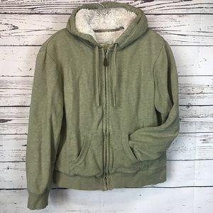 Green Tea Heavy Fleece Lined Sweatshirt XL
